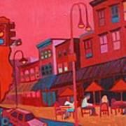 Burlington VT cafe Poster