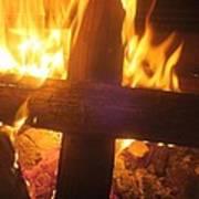 Burning Cross Poster