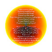 Burning Orb With Poem Poster