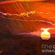Bushveld Sunset Poster