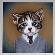 Business Casual Kitten Poster