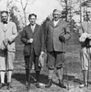Business Leaders Play Golf Poster