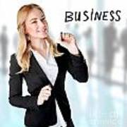 Business Woman In The Office Poster