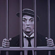 Buster Keaton Painting Poster
