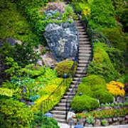 Butchart Gardens Stairs Poster