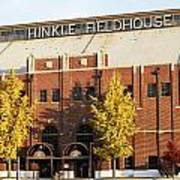 Butler Bulldogs Hinkle Fieldhouse In The Fall Poster