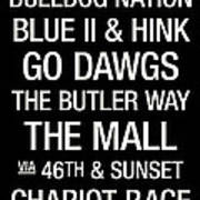 Butler College Town Wall Art Poster by Replay Photos