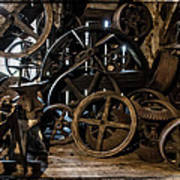 Butte Creek Mill Interior Scene Poster