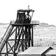 Butte Mine Shaft Poster