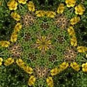 Buttercup Kaleidoscope Poster
