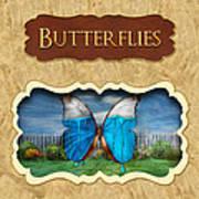 Butterflies Button Poster