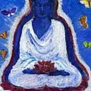 Butterflies Dream Of Buddha Poster