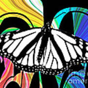 Butterfly Abstract Wall Art Decor Poster