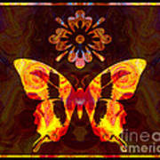 Butterfly By Design Abstract Symbols Artwork Poster