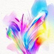 Butterfly Sound Abstract Poster