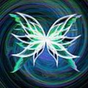 Butterfly Swirl Poster