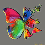 Butterfly World Map 2 Poster