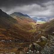 Buttermere Valley Autumn View Poster