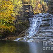 Buttermilk Falls Autumn Poster