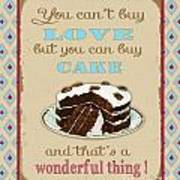 Buy Cake Typography Poster