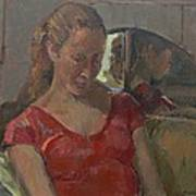 By The Old Mirror, 2009 Oil On Canvas Poster