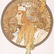 Byzantine Head Of A Blond Maiden Poster
