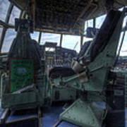 C-130 Cockpit Poster
