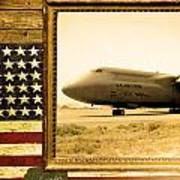 C-5 Galaxy Rustic Flag Poster