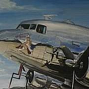 C47b Skytrain Bluebonnet Belle  Warbird 1944 Poster