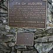 Ca-404 City Of Auburn Poster