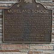 Ca-489 Moreland School Poster