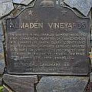 Ca-505 Almaden Vineyards Poster