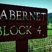 Cabernet Block 4 Poster