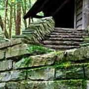 Cabin Staircase - Buttermilk Falls Poster