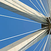 Cable Bridge Abstract Poster