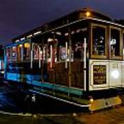 Cable Car At Night Poster
