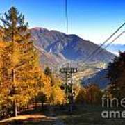 Cableway In Autumn Poster