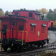Caboose On The Tracts Poster
