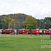Cabooses In Upstate New York Poster