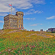 Cabot Tower In Signal Hill National Historic Site In Saint John's-nl Poster