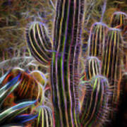 Cacti Lights Poster