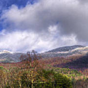 Cades Cove First Dusting Of Snow II Poster by Debra and Dave Vanderlaan