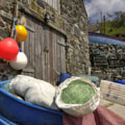 Cadgwith Fishing Paraphernalia  Poster