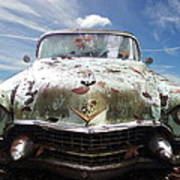 Cadillac At The Beach Poster