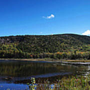Cadillac Mountain And Lake In Acadia National Park Poster