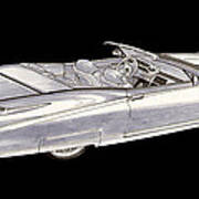 1963 64 Cadillac Roadster Concept Poster