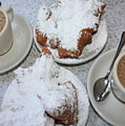 Cafe Au Lait And Beignets Poster by Carol Groenen
