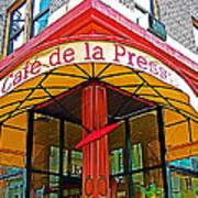 Cafe De La Presse In San Francisco-california  Poster