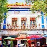 Cafe En Guanajuato Poster by Matthew Green