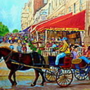 Cafe La Grande Terrasse Poster